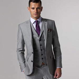 bridegroom suit ternos masculino slim fit Custom made Light Grey men suit terno masculino wedding Groom from mens Suits Tuxedo