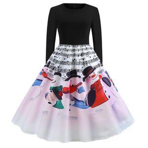 designer woman dresses luxury women designer sweaters Christmas Musical Print Long Sleeve Round Neck Dress women clothes