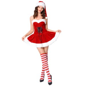 Women Christmas Sexy Cosplay Dress for Adult Santa Claus Christmas Dress Christmas Costumes Party Cosplay Skirt Hot Sale