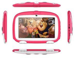 키즈 타블렛 7 인치 쿼드 코어 어린이 귀여운 만화 개 태블릿 안 드 로이드 4.4 Allwinner Google Player 512MB 1MB RAM 8GB