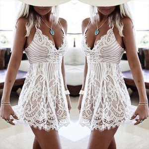 Sexy Women Summer Sleeveless Lace Dress Evening Party Mini Dress 2017 Hot Selling Ladies Summer