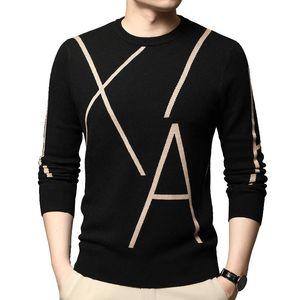 High-end Winter Fleece Pullover Men Fashion Brand Black Pullover Autumn Casual Mens Clothing 2020
