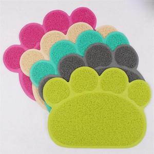 Pet Dog Mat Pad Paw PVC Cama Prato Placements Cat Borrante Esteira Pet Food Foot Placement Pets Tapete Pet Acessórios