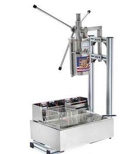 Heiße Verkaufs-Qualität für Gewerbe 5L Vertikale manuelle Churrera Churros Maschine / 12L Fryer freies Verschiffen LLFA