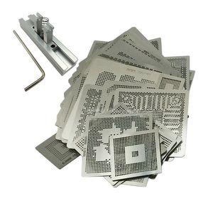 433 adet / grup Doğrudan Isı BGA Şablonlar Jigs Tutucu BGA Reballing Stencil Kiti ile Doğrudan Isı Reballing Station ile BGA Realling Için