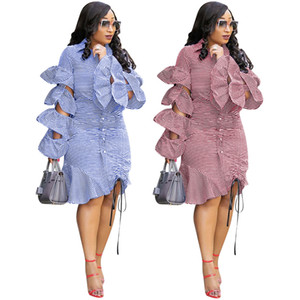 Voleurs à volants Vêtements Sexy Hollow Out Stacked Robe empilée Mode Casual Mini Robes Vestidos de Mujer