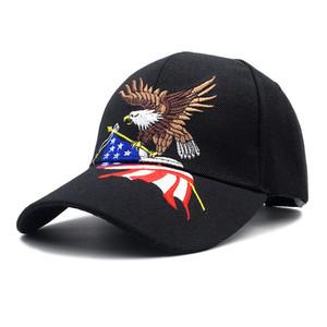 Neue patriotische amerikanische Adler und amerikanische Flagge Baseballmütze USA Bald Eagle 3D Stickerei Snapback Hüte Männer Kappe