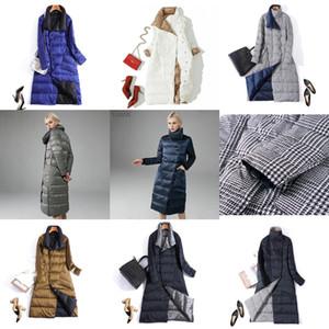 Luzuzi Double Side Vrouwen Winter Donsjack 2020 Fashion Lange Double-Breasted Jas Vrouwelijke Warm Witte Eend down Parka 2 ZC1E