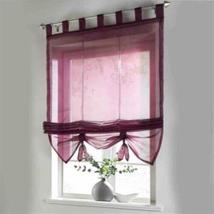 Liftable Voile Sheer Roman Curtain 140*155 cm Semi transparent tulle Easy to install Shades and Blinds Europe Warehouse