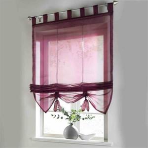Anhebbarer Voile Sheer Römischer Vorhang 140 * 155 cm Halbtransparent Tüll einfach, um Farbtöne und Jalousien zu installieren.