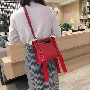 Hot Sale Handbag 2020 Fashion New High Quality PU Leather Womens Designer Handbag Ribbon Tote bag Leisure Shoulder Messenger Bags