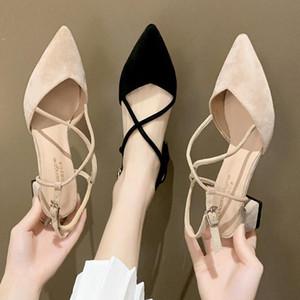Moda kadın ayakkabı ICCLEK 2021 Bahar Yeni Stil Bayanlar için Sivri Ince Ayakkabı Rahat Nefes