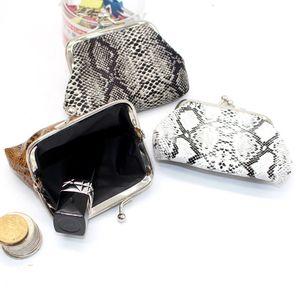 Coin Purse Wallet Women Vintage Snake Pattern Small Wallet Hasp Printing Creative Clutch Bag Good Gift Women's Purses lqb-039