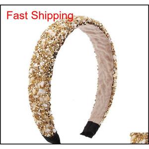 Retro Hair Hoop Natural Healing Crystal Stone Headband Sponge Leopard Print Woman Fashion Hair Band Acc jlluzW dayupshop