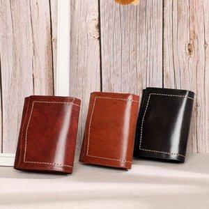 Portefeuille féminin rétro en cuir authentique chaude, petit changement multi-usage, sac à cartes à la mode, sac de femme.