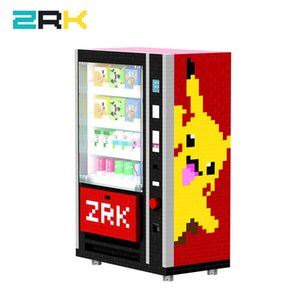 ZRK new coming Mini popular Vending Machine Building Blocks Bricks City Accessories Drink Food Case Kits Set DIY Toys for Kids Q1126