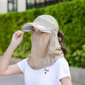 Designer Sun Cap Women Women Shield Visor Hat Fishing Face Cover Neck Veil Foldable Adjustable Outdoor Sport Hiking Transparent
