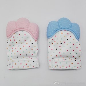 Silicon Food Grade Baby Mitten for Sale Gum Pain Relief Teething Gloves Mitt Teether Washable Mittens for Newborn Baby Gift Ideas