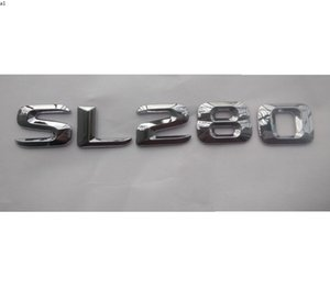 Chrome Brillant Silver Silver ABS Tronc de voiture Numéro arrière Mots Mots Badge Emblem Sticker Sticker pour Mercedes-Benz SL Classe SL280