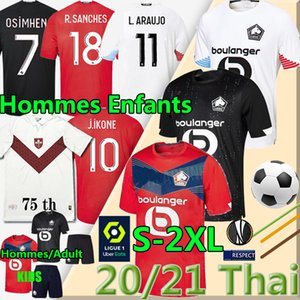 LOSC LILL Футбол 75 майки 2020 2021 R.Sanches Burak Bamba Yazici J.ikone çelik Men Kids Kits Maillot De Футбольные рубашки Тайская форма