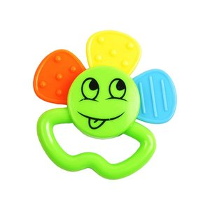 3 petals smile face flower outlook newborn silicone soothing baby music teether