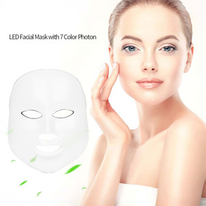 Removing acne and wrinkles7 Color LED Photon Facial Mask Light PDT Photon Face Skin Rejuvenation Anti Aging Acne Wrinkle Beauty Instrument