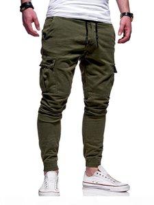 Causal Striped Mens Designer Cargo Pants Male Sport Pants Skinny Fitness Men Drawstring Trousers Fashion Running Clothing
