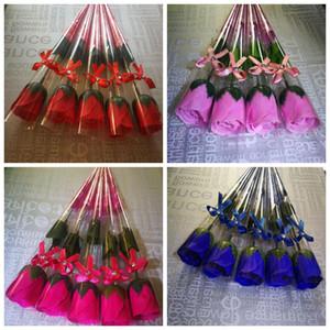 Seifen-Blume-duftendes Bad Soap Rose Soap Blütenblatt für Hochzeit Valentinstag Muttertag Tag des Lehrers Geschenk-Rosen-Blumen-Party AHC37