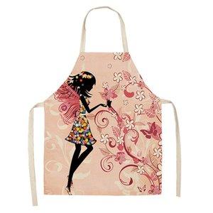 Diy سيدة المنزل pinafian المطبخ القطن الكتان قابل للغسل مآزر الزهور دراجة المطبوعة ديدل الدانتيل يصل النساء اكسسوارات الطبخ جديد 8 5MYYA G2