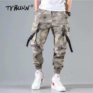Tyburn Nouveau 2021 Casual Joggers Pantalons Hommes Coton Elastic Long Haren Pantalons Pantalon Homme Camo Camo Army Cargo Pantalons Hommes