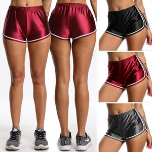Hot Sale Summer Women Shorts Silk Stain Egde Fitness Slim Beach Casual White Shorts Hot For Women Sexy Pole Dance
