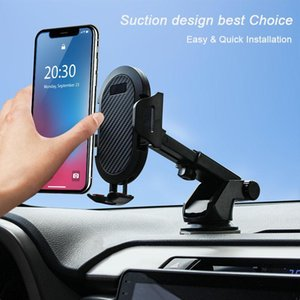 Auto Car Phone Holder Dashboard Windshield Air Vent Phone Stand No Magnetic Support 4-6 Inches Mobile Cellphone GPS Car Bracket