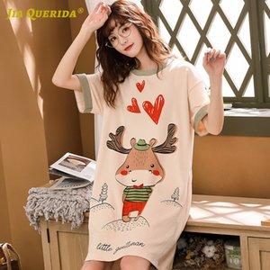 Ночь Носить ночные рубашки для женщин Спящего платья Длинной рубашки Homedress Nighty Sleepshirts Женской Nightgown пижама Девочки