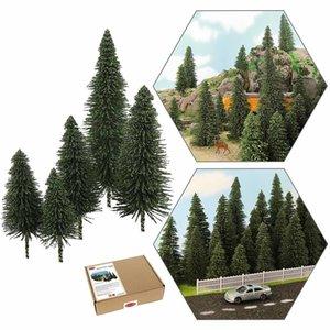 Minyatür Manzara Modeli Çam Ağaçları Derin Yeşil Çamlar Için HO O N Z Ölçekli Model Demiryolu Düzeni LJ200925