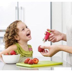 Кухонные аксессуары Красная клубника Huller Clobberry Top Leaf Remover Tool Tomato Stalks Fruit Нож для удаления стебля Gadget ETBXM