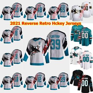 San Jose Sharks 2021 Reverse Retro Hockey-Trikots 20 Marcus Sorensen Jersey Dalton Prout Danil Yurtaykin Dylan Gambrell Kundenspezifische Nähte Herren