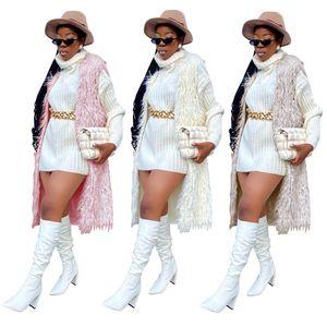 Künstliche Pelzwesten Womens Solide Farbe Strickjacke Plüschmäntel Mode Beiläufige Frühling Winter Frauen Oberbekleidung Weste