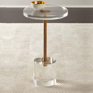 Acrylic side table round End Table Living Room Round Transparent Coffee Table