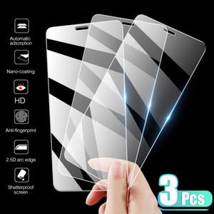 3 pcs tampa completa vidro temperado no iphone 7 8 6 6 s mais x protetor de tela no iphone x xs max se 5 5s 11 12 pro vidro
