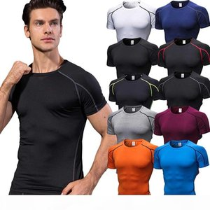 Quick-drying Soccer Jerseys For Men Compression Fitness Tights Gym Sportswear Basketball Men Short sleeve Shirt Bodybuilding T-Shirt