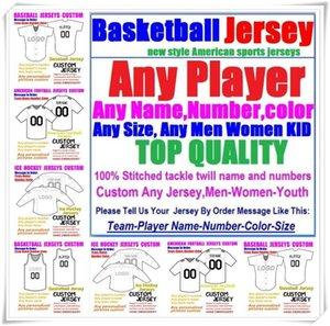 Пользовательские баскетбольные бэйсбольные хоккей в хоккею американский футбол для мужчин Женщины Молодежный колледж Цвет 32 Команды Спортивные Джерси Бесплатный 4XL 5XL 6XL