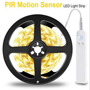 PIR LED Strip Motion Sensor LED Kitchen Cabinet Light Tape LED Flexible Strip Light Waterproof Bedroom Night Lamp 5V Closet Lamp