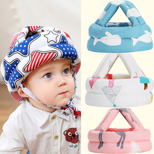 Newborn Baby Boys Girls Protect Head Safety Helmet Hats Anti Wrestling Caps For Kids Prevent Play Walk Impact Hat M3152