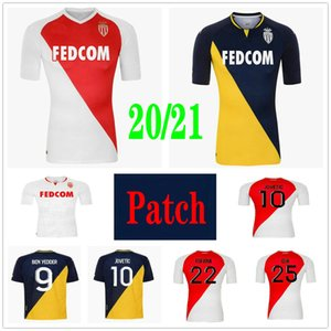 2020 As Monaco Soccer Jersey Ben Yedder Jovetic Fabregas Glik Gelson .MM Golovin Keita Balde Personalizzato 20 21 Casa Away Camicia da calcio per bambini adulti