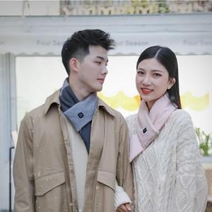 Winter Warm Scarf Heated Scarf USB Women Heating Scarf Couple 3 Modes Ajustable Neckerchief Plush Collar Scarves DDA824