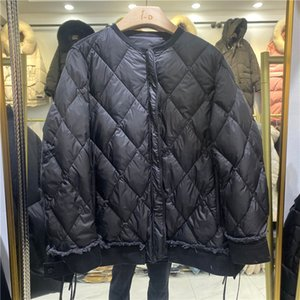 2020 new denim stitched down jacket for women