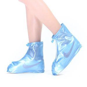 Scarpe in silicone Coperchio impermeabile Skid-Proof Scarpe da esterni Coperchi di scarpe di plastica riciclabili Copriscarpe pulizia Overshoes Stivali da pioggia