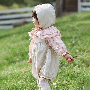 캐주얼 여름 소년 소녀 rompers Corduroy 유아 어린이 면화 바지 귀여운 신생아 아기 반바지 스트랩 서스펜 바지 아이들을위한