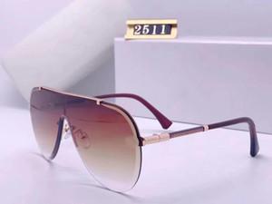 2020 new Luxur Top Quality Classic Pilot Sunglasses Designer Brand fashion Mens Womens Sun Glasses Eyewear Metal Glass Lenses with box 2511