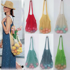 2021 New Mesh Shopping Bag Reusable ECO Storage Bags Fruit Shopping String Grocery Shopper Tote Mesh Woven Net Bag